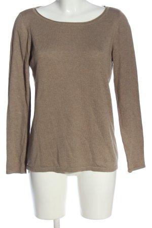 Esprit Camisa tejida marrón moteado look casual