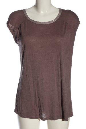 Esprit Strickshirt braun-silberfarben Casual-Look