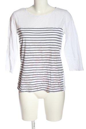 Esprit Strickshirt weiß-schwarz Streifenmuster Casual-Look