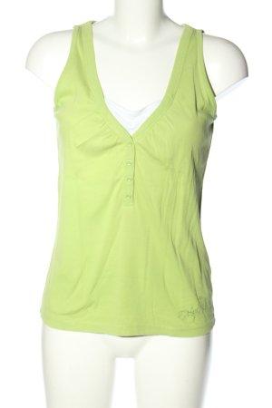 Esprit Gebreide top groen-wit casual uitstraling