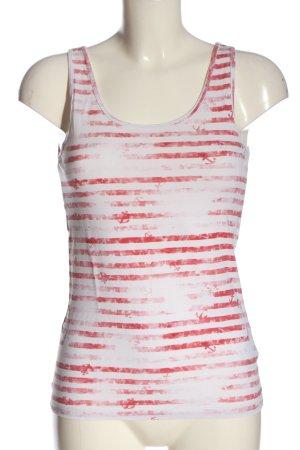 Esprit Gebreide top wit-rood prints met een thema casual uitstraling