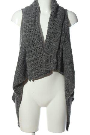 Esprit Gilet tricoté gris clair moucheté style décontracté