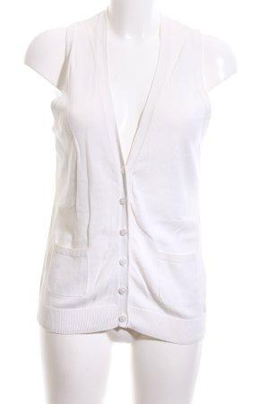 Esprit Chaleco de punto blanco look casual