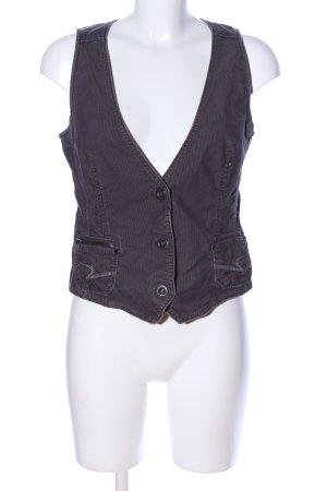 Esprit Strickweste schwarz-hellgrau Streifenmuster schlichter Stil