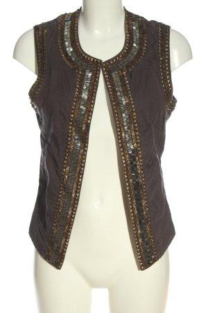 Esprit Gilet tricoté brun style décontracté