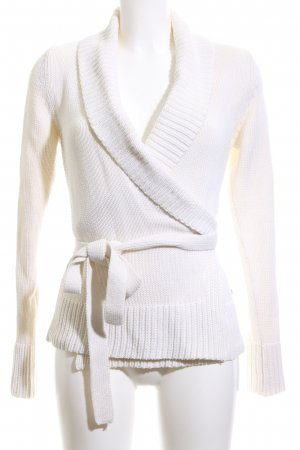 Esprit Knitted Wrap Cardigan white casual look