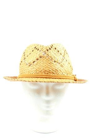 Esprit Sombrero de paja amarillo pálido look casual
