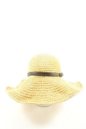Esprit Straw Hat primrose striped pattern casual look