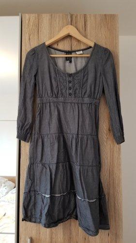 Esprit Robe mi-longue gris foncé-bleu foncé
