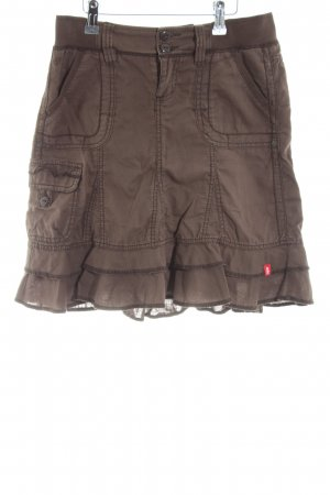 Esprit Stufenrock braun Casual-Look
