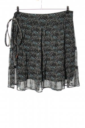 Esprit Broomstick Skirt black-blue abstract pattern casual look