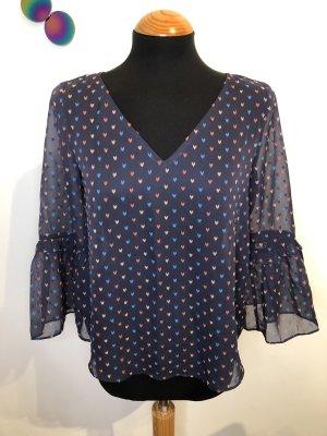 Esprit ❤️ süße Bluse Shirt lila gepunktet ❤️ XS S 34 36