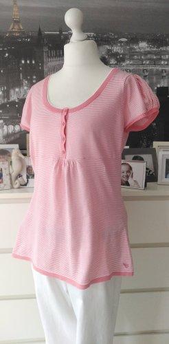 Esprit * Süßes Strick Shirt Tunika * koralle-weiß geringelt * XXL=42/44