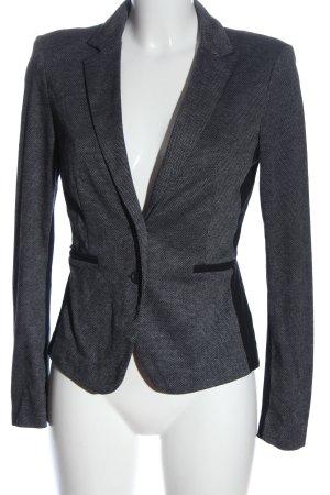 Esprit Blazer de tela de sudadera gris claro-negro Patrón de tejido