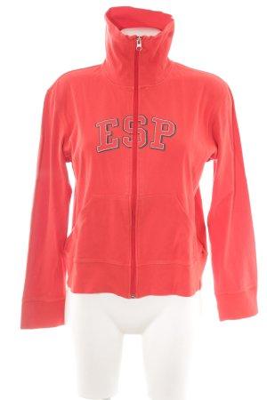 Esprit Sweatjacke rot Schriftzug gedruckt sportlicher Stil