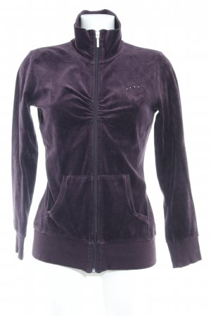Esprit Sweatjacke braunviolett Casual-Look