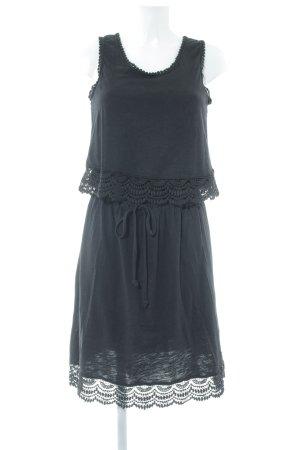 Esprit Vestido de tela de sudadera negro look casual