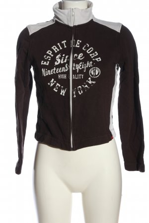 Esprit Sweatshirt schwarz-hellgrau Schriftzug gedruckt Casual-Look