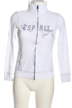 Esprit Sweatshirt weiß-blau Casual-Look