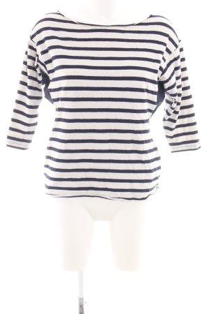 Esprit Sweatshirt weiß-blau Streifenmuster Casual-Look