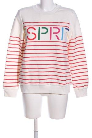Esprit Sweatshirt weiß-rot Schriftzug gedruckt Casual-Look