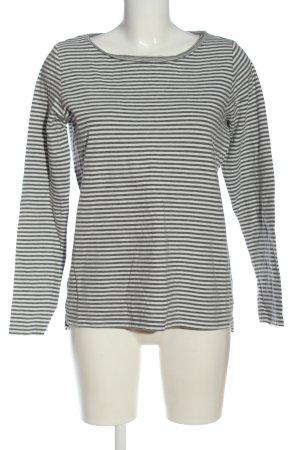 Esprit Sweatshirt hellgrau-weiß Streifenmuster Casual-Look