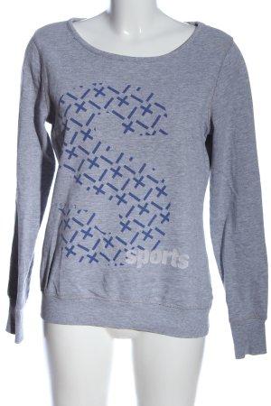 Esprit Sweatshirt hellgrau-blau grafisches Muster Casual-Look