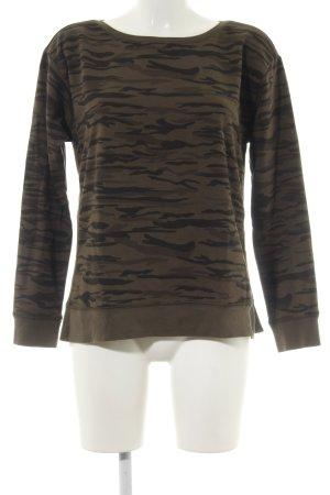 Esprit Sweatshirt braun Allover-Druck Casual-Look