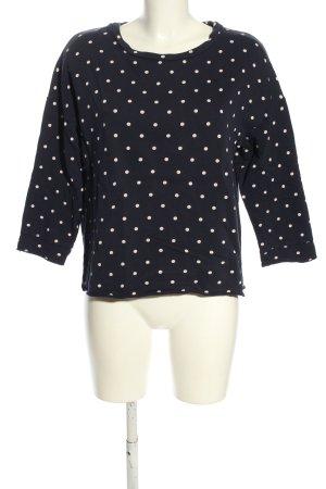 Esprit Sweatshirt schwarz-weiß Punktemuster Casual-Look