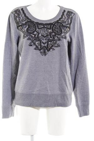 Esprit Sweatshirt grau-schwarz abstraktes Muster Casual-Look