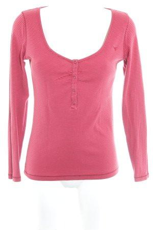 Esprit Sweatshirt hellrot-dunkelrot Streifenmuster klassischer Stil