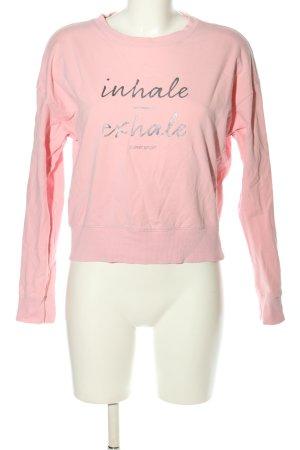 Esprit Sweatshirt pink Schriftzug gedruckt Casual-Look