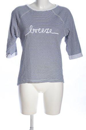 Esprit Sweatshirt schwarz-weiß Streifenmuster Casual-Look