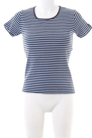 Esprit T-Shirt blau-weiß Streifenmuster Casual-Look