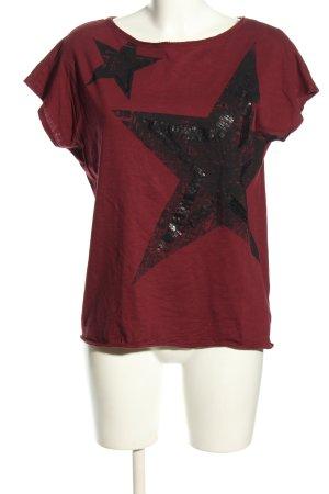 Esprit T-Shirt rot-schwarz Motivdruck Casual-Look