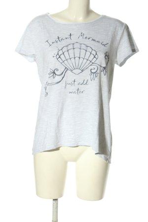 Esprit T-Shirt hellgrau-schwarz Motivdruck Casual-Look
