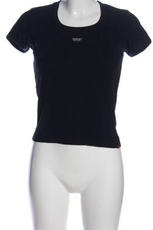 Esprit T-Shirt schwarz-weiß Motivdruck Casual-Look