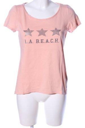 Esprit T-Shirt nude-silberfarben Motivdruck Casual-Look