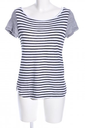 Esprit T-Shirt weiß-schwarz Streifenmuster Casual-Look