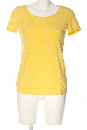 Esprit T-Shirt blassgelb Allover-Druck Casual-Look