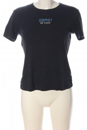 Esprit T-Shirt schwarz Schriftzug gedruckt Casual-Look