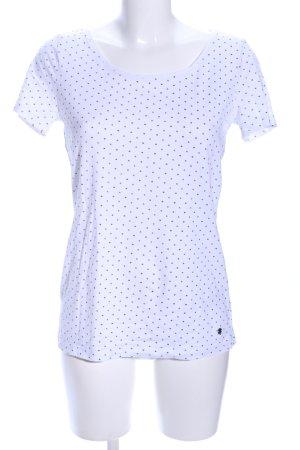Esprit T-Shirt weiß-schwarz Allover-Druck Casual-Look