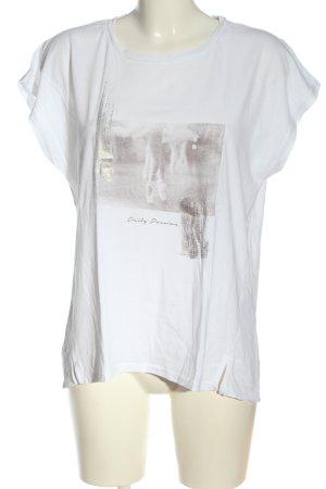Esprit T-Shirt weiß Motivdruck Casual-Look