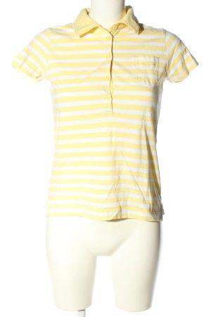 Esprit T-Shirt weiß-blassgelb Streifenmuster Casual-Look