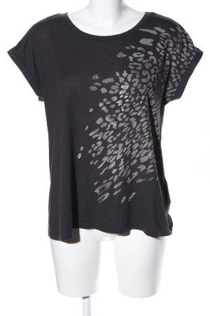 Esprit T-Shirt schwarz-hellgrau Casual-Look
