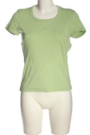 Esprit T-Shirt grün Schriftzug gestickt Casual-Look