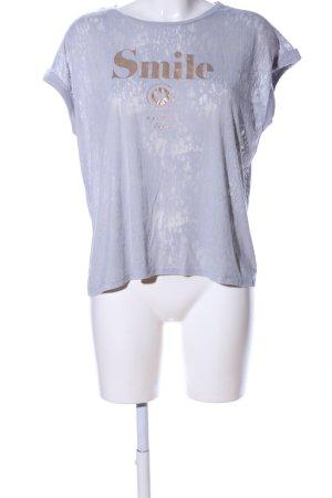 Esprit T-Shirt hellgrau Schriftzug gedruckt Casual-Look