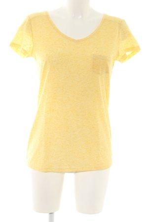 Esprit T-Shirt blassgelb meliert Casual-Look