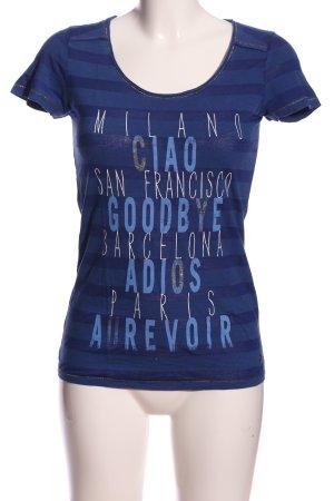 Esprit T-Shirt blau Mustermix Casual-Look