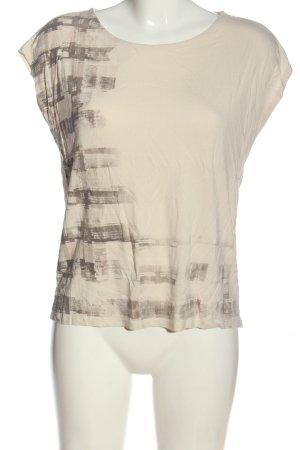Esprit T-Shirt creme-braun Motivdruck Casual-Look